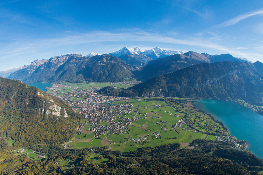 aerial view from Interlaken