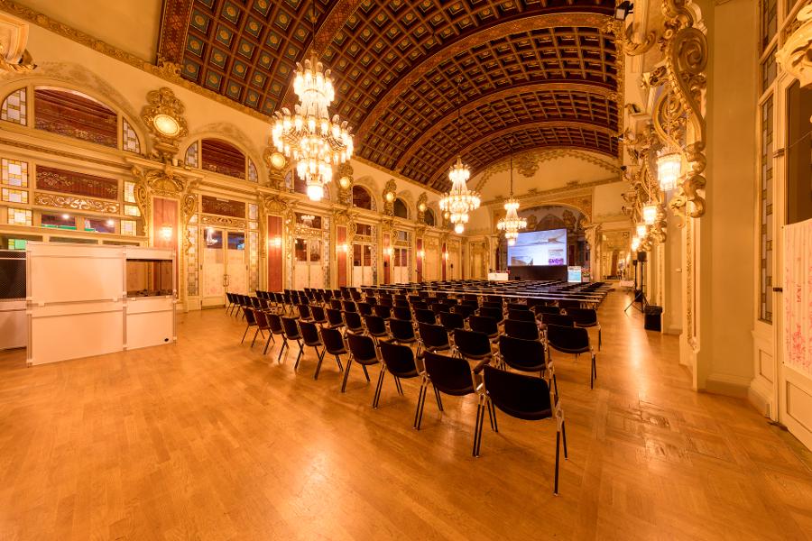View from inside Congress Centre Kursaal Interlaken