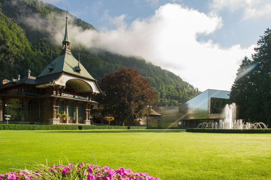 View from outside of the Congress Centre Kursaal Interlaken